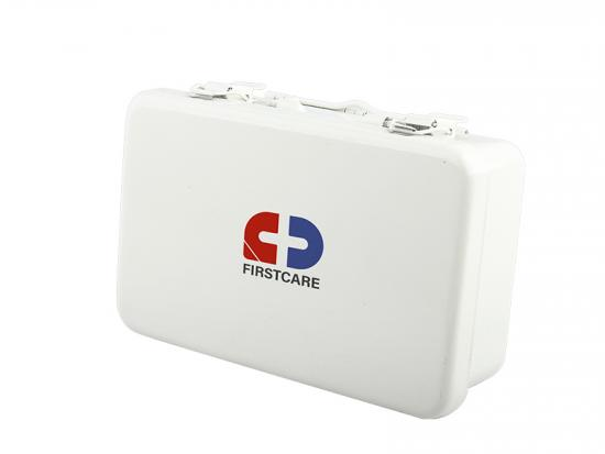 White metal first aid kit box