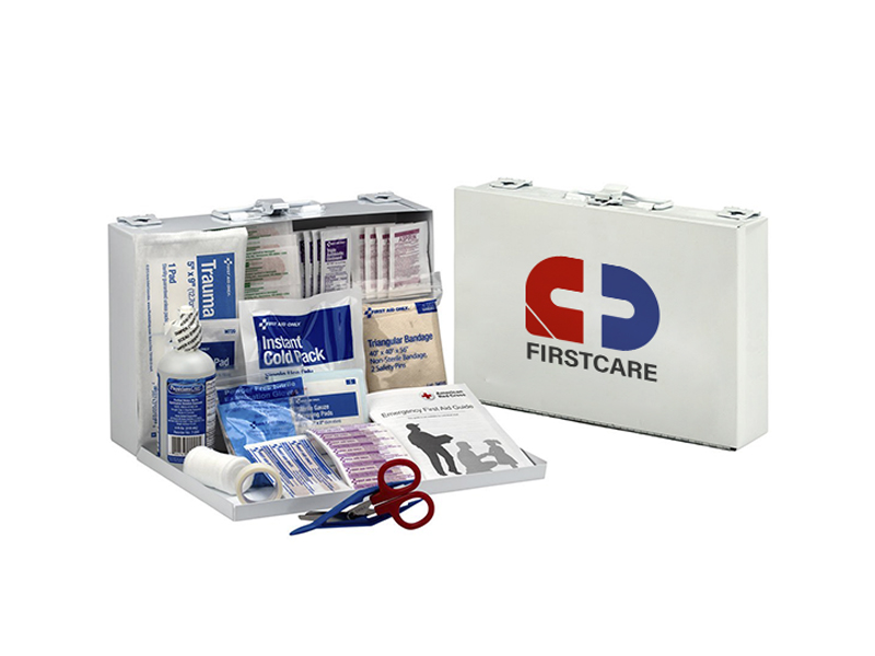25 Person Empty Workplace Metal First Aid Box