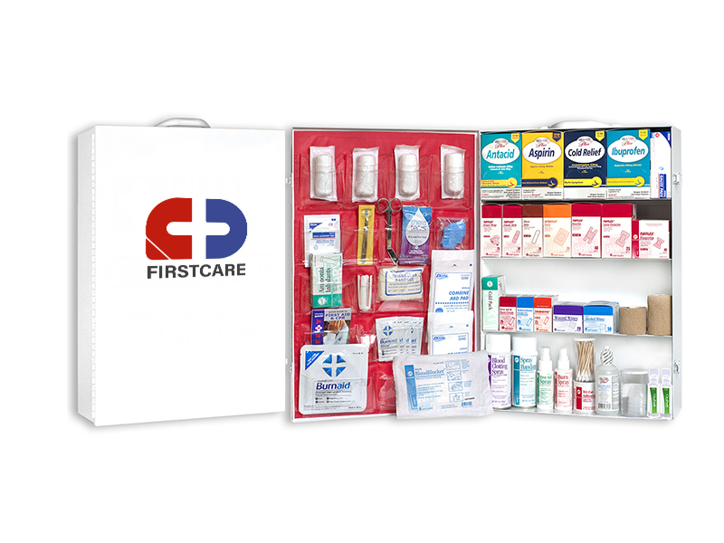 4 shelf Metal First Aid Cabinet