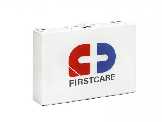 Office metal first aid box empty