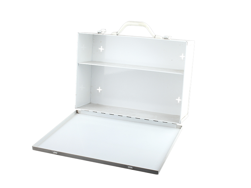 2 shelf Metal First Aid Cabinet