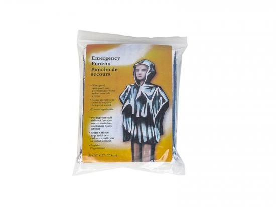 Emergency Thermal mylar rain coat